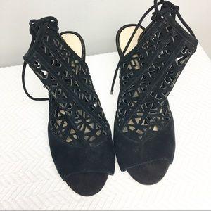 Gianni Bini Black Suede Stilettos  Size 8.5 NWOT